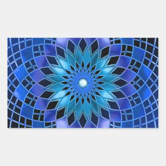 Blue Flare Rectangular Sticker