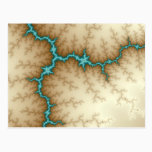 Blue Flash - Fractal Postcard - Customized