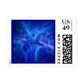 Blue Flash Postage
