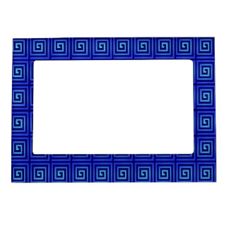 blue flashes magnetic photo frame