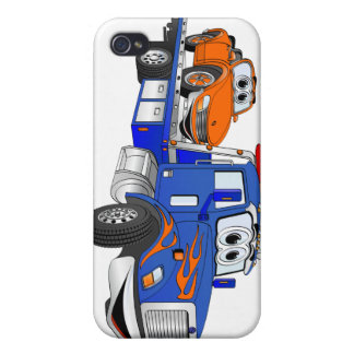 Blue Flatbed Tow Truck iPhone 4/4S Cover
