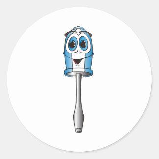 Blue Flathead Screwdriver Stickers