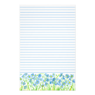Lined Stationery Paper Glamorous Lined Letter Writing Paper Floral Gifts On Zazzle