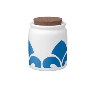 Blue fleur candy jar French  home decor