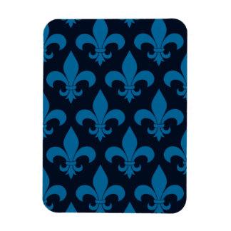 Blue Fleur de lis French Symbol Magnet