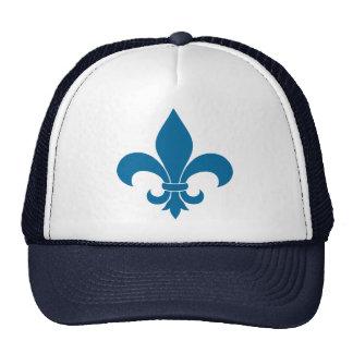 Blue Fleur de lis French Symbol Trucker Hat
