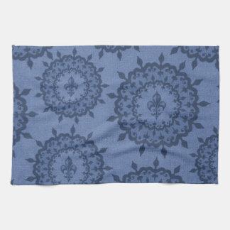 Blue Fleur De Lis Hand Towels