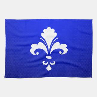 Blue Fleur de lis Hand Towel