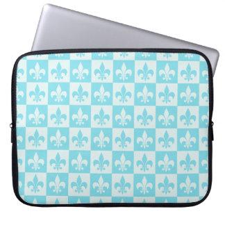 Blue Fleur de lis Laptop Computer Sleeves