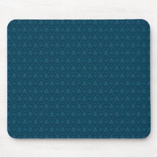 Blue Fleur-de-lis Pattern Mouse Pad