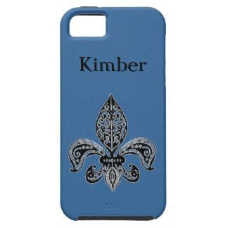 Blue Fleur de lis Phone Case iPhone 5 Cover