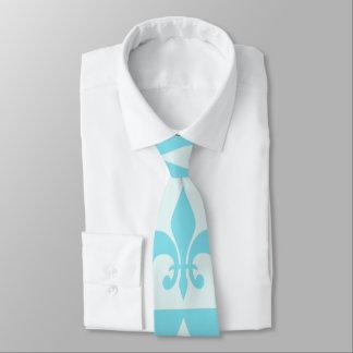 Blue Fleur de lis Tie