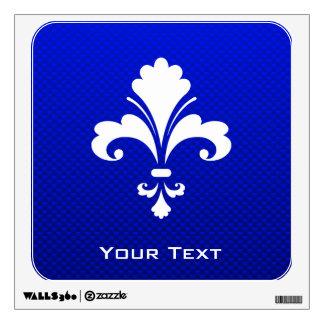 Blue Fleur de lis Room Graphic