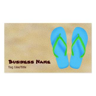Blue Flip Flop Beach Business Cards