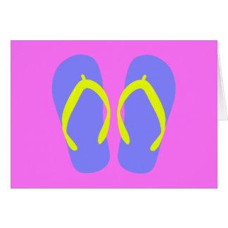 Blue Flip-Flop Card