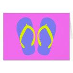 Blue Flip-Flop Cards