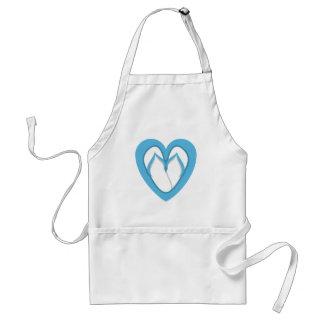 Blue flip flop design adult apron