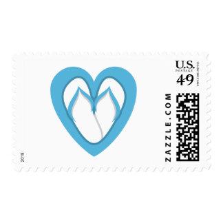 Blue flip flop design stamp
