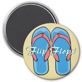 Blue Flipflops Magnet