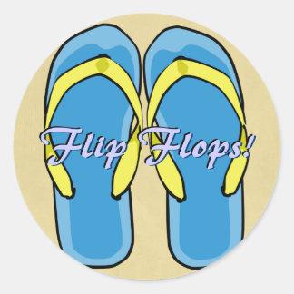 Blue Flipflops Sticker
