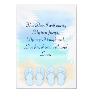 Blue Flips Wedding Invitation
