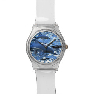 Blue Floating Dolphins Wristwatch