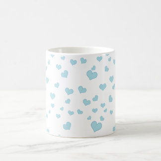 Blue Floating Hearts Background Cover Coffee Mug