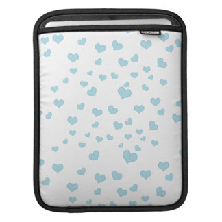 Blue Floating Hearts Background Cover iPad Sleeve