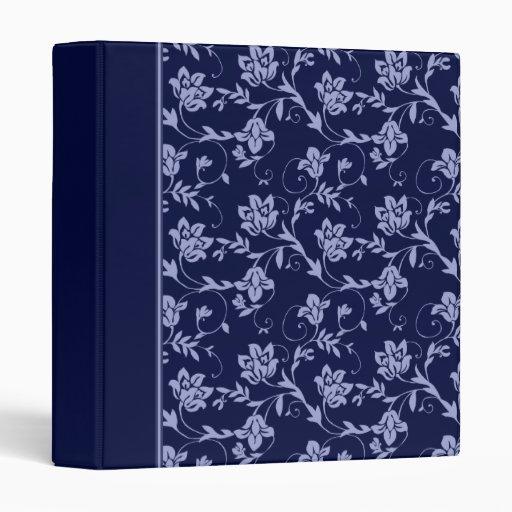Blue Floral 3 Ring Binder