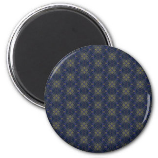 Blue Floral Abstract Magnet