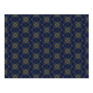 Blue Floral Abstract Postcard