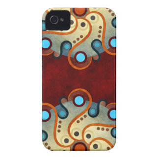 Blue Floral Abstract Vector Art BlackBerry Bold iPhone 4 Case