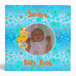 Blue Floral and Yellow Seahorse Baby Book Binder