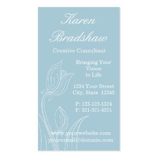 Blue Floral Arrangement Designer Business Cards