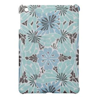 blue floral art nouveau design iPad mini cases