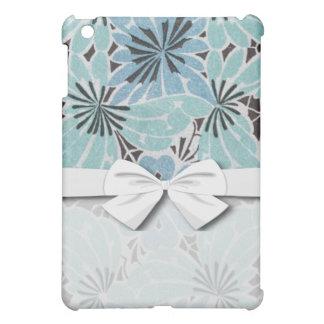 blue floral art nouveau design cover for the iPad mini