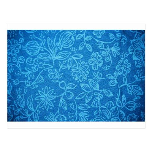 Blue Floral Background Postcards
