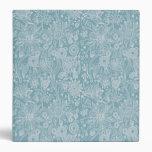 Blue Floral Binder