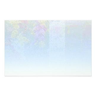 Blue Floral Blend Stationery