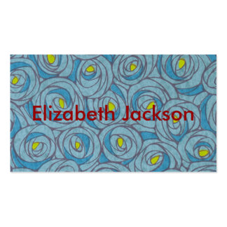 Blue Floral Business Card