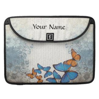 Blue floral butterflies sleeve for MacBook pro