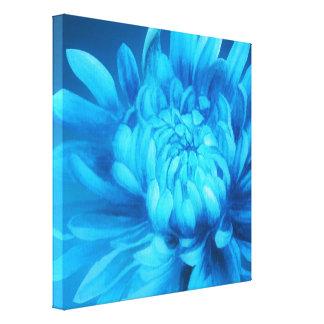 Blue floral canvas original fine-art print