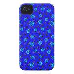 Blue Floral Cobalt Blue Designer iPhone 4/4s Case iPhone 4 Cover