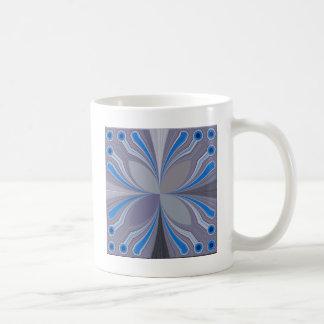 Blue Floral Coffee Mug