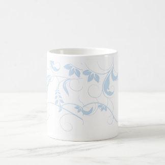 Blue Floral Coffee Mugs