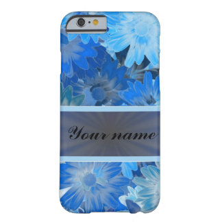 Blue Floral Daisy Pattern Barely There iPhone 6 Case