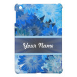 Blue Floral Daisy Pattern Cover For The iPad Mini