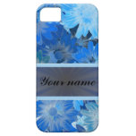 Blue Floral Daisy Pattern iPhone 5 Cases