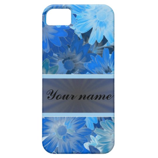 Blue Floral Daisy Pattern iPhone SE/5/5s Case
