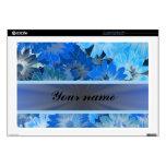 Blue Floral Daisy Pattern Laptop Skin